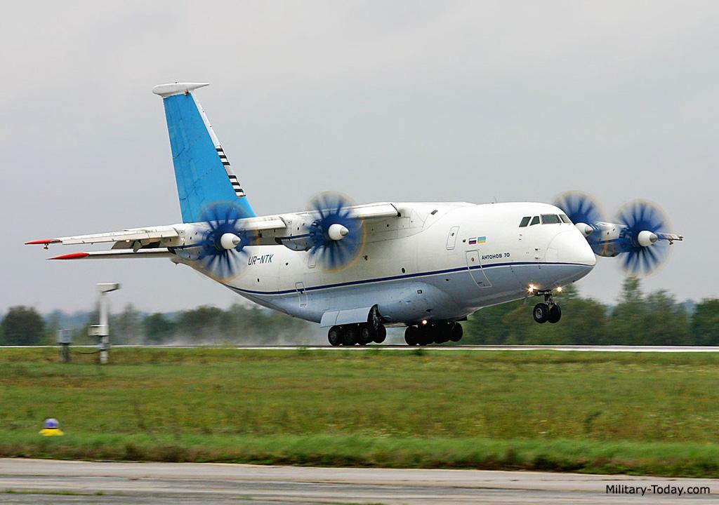 Самолет Ан-70 планируется собирать в Казани