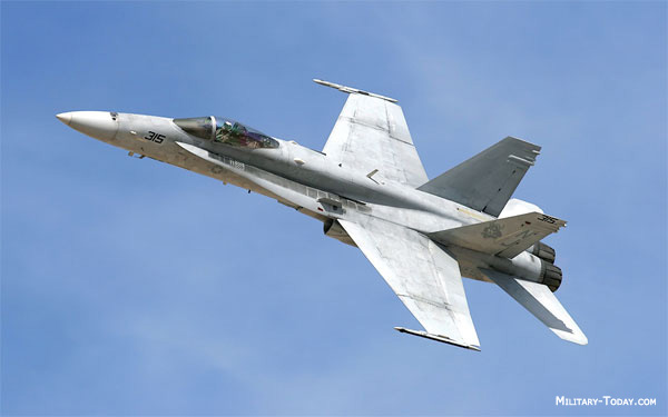 The F/A-18 Hornet offers much greater weapons delivery accuracy than ...