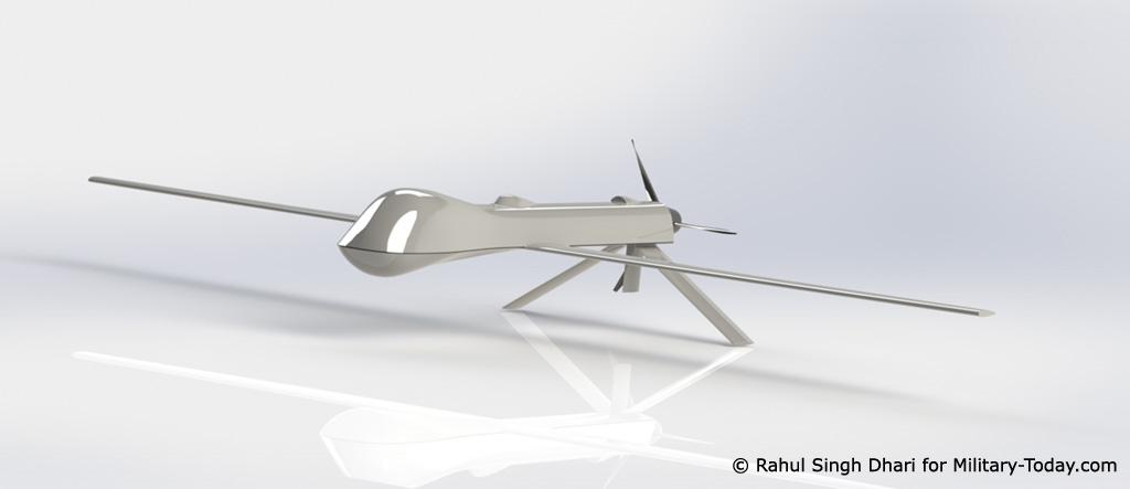 MQ-1 Predator CAD model
