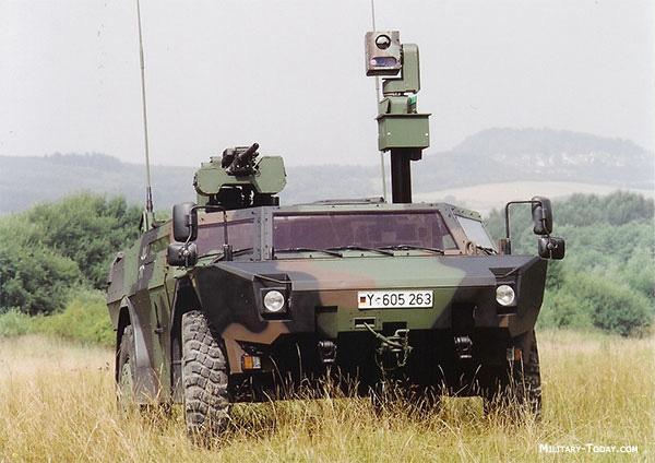 Fennek armored reconnaissance vehicle