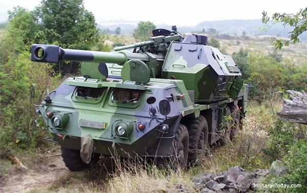 DANA 152-mm self-propelled gun-howitzer