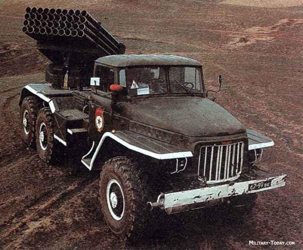 """БМ-21 """"Град"""" საბჭოთა 122 მმ. ზალპური ცეხლრეაქტიული სისტემა რომელიც დაპროექტდა 1960-იანი წლების დასაწყისში"""
