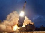 New North Korean artillery rocket system, firing ballistic missile