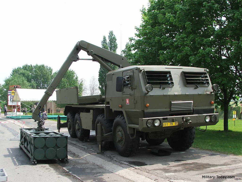 Reloading vehicle of the RM-70 Modular MLRS