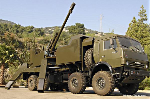 Semser truck-mounted howitzer