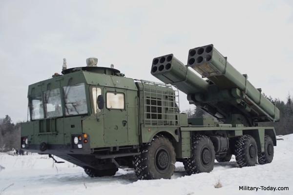Uragan-1M Multiple Launch Rocket System