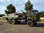 Reloading vehicle of the Uragan-M artillery rocket system