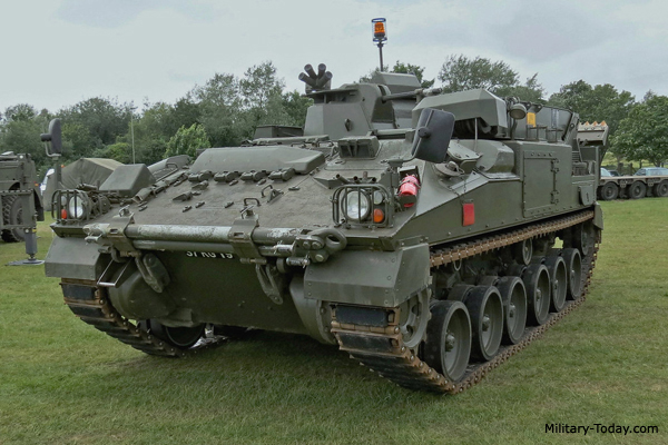 FV513 Warrior repair and recovery vehicle