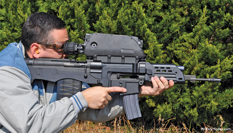 K11 Assault rifle with integrated grenade launcher