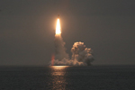Russian Bulava submarine-launched intercontinental ballistic missile
