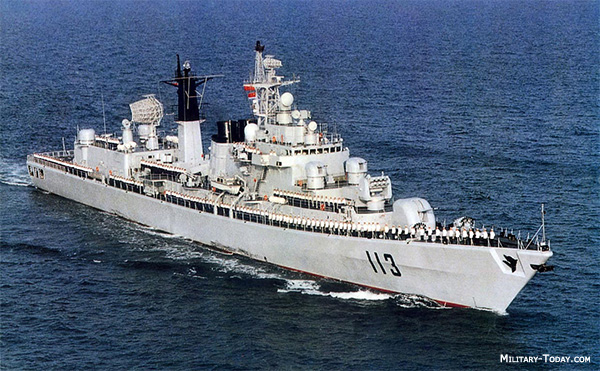 Quingdao is the second Luhu class destroyer, fitted with a Ukranian gas turbines