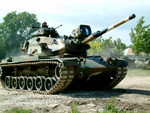 M60A3 Patton tank with a searchlight