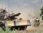 Turkish M60A3 with dozer blade