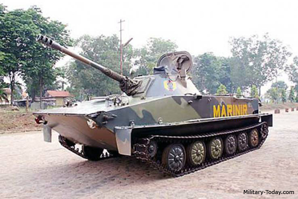 Indonesian upgraded PT-76 tank