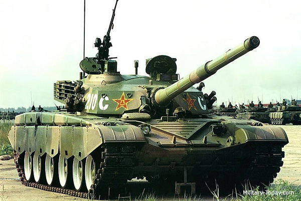 Type-99 tank seen during rehearsal for upcoming parade ...