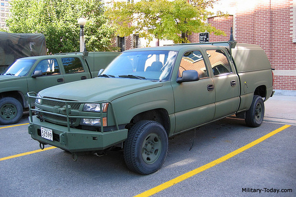 Chevy Military Trucks For Sale >> Chevrolet Silverado Light Utility Vehicle Military Today Com