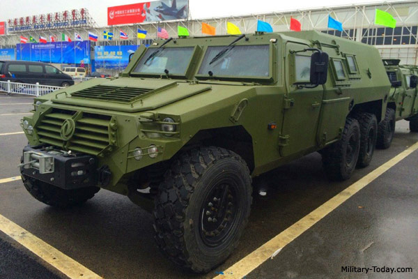 Dongfeng EQ2101 armored vehicle with 6x6 configuration