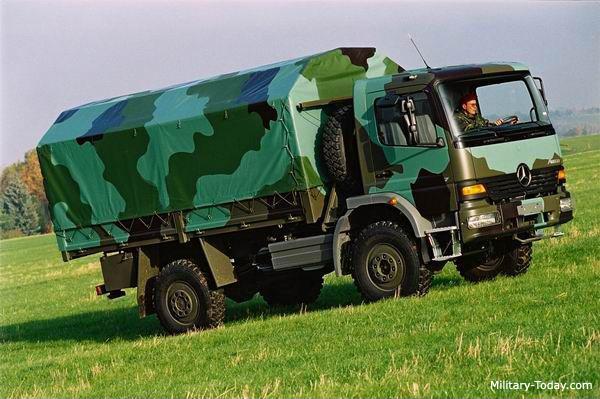სამხედრო სატვირთო მანქანა – Mercedes-Benz Atego  (გერმანია)