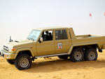 Toyota Land Cruiser 6x6 light utility vehicle