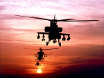 Boeing AH-64A Apaches helicopter
